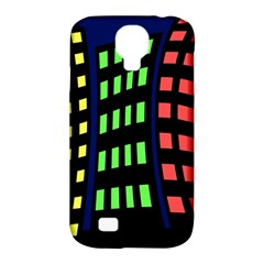 Colorful Abstract City Landscape Samsung Galaxy S4 Classic Hardshell Case (pc+silicone) by Valentinaart