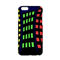 Colorful Abstract City Landscape Apple Iphone 6/6s Hardshell Case by Valentinaart