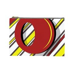 Red And Yellow Design Cosmetic Bag (large)  by Valentinaart