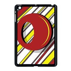 Red And Yellow Design Apple Ipad Mini Case (black) by Valentinaart