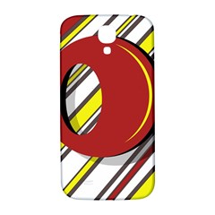 Red And Yellow Design Samsung Galaxy S4 I9500/i9505  Hardshell Back Case by Valentinaart