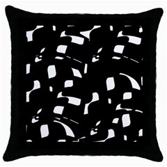 Black And White Pattern Throw Pillow Case (black) by Valentinaart