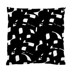 Black And White Pattern Standard Cushion Case (two Sides) by Valentinaart