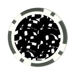 Black And White Pattern Poker Chip Card Guards (10 Pack)  by Valentinaart