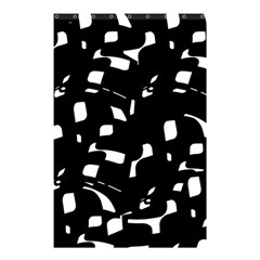 Black And White Pattern Shower Curtain 48  X 72  (small)  by Valentinaart