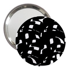Black And White Pattern 3  Handbag Mirrors by Valentinaart