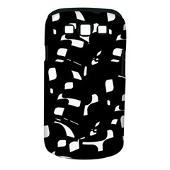 Black And White Pattern Samsung Galaxy S Iii Classic Hardshell Case (pc+silicone) by Valentinaart