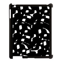 Black And White Pattern Apple Ipad 3/4 Case (black) by Valentinaart