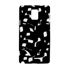 Black And White Pattern Samsung Galaxy Note 4 Hardshell Case by Valentinaart