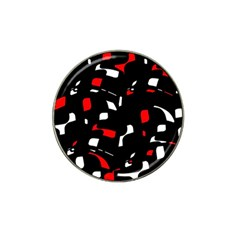Red, Black And White Pattern Hat Clip Ball Marker (10 Pack) by Valentinaart