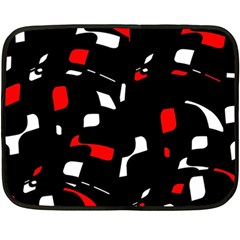 Red, Black And White Pattern Double Sided Fleece Blanket (mini)  by Valentinaart