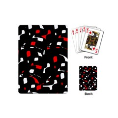 Red, Black And White Pattern Playing Cards (mini)  by Valentinaart
