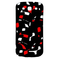 Red, Black And White Pattern Samsung Galaxy S3 S Iii Classic Hardshell Back Case by Valentinaart
