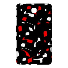 Red, Black And White Pattern Samsung Galaxy Tab 4 (8 ) Hardshell Case  by Valentinaart