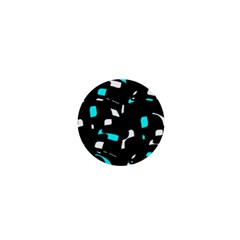 Blue, Black And White Pattern 1  Mini Buttons by Valentinaart