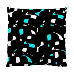 Blue, Black And White Pattern Standard Cushion Case (two Sides) by Valentinaart