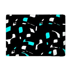 Blue, Black And White Pattern Apple Ipad Mini Flip Case by Valentinaart