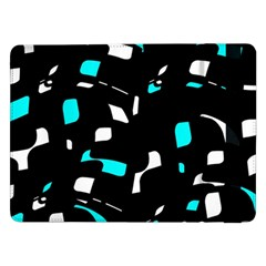 Blue, Black And White Pattern Samsung Galaxy Tab Pro 12 2  Flip Case by Valentinaart