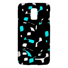 Blue, Black And White Pattern Galaxy S5 Mini by Valentinaart