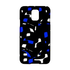 Blue, Black And White  Pattern Samsung Galaxy S5 Hardshell Case  by Valentinaart
