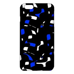Blue, Black And White  Pattern Iphone 6 Plus/6s Plus Tpu Case by Valentinaart