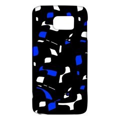 Blue, Black And White  Pattern Galaxy S6 by Valentinaart