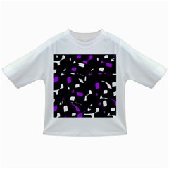 Purple, Black And White Pattern Infant/toddler T Shirts by Valentinaart