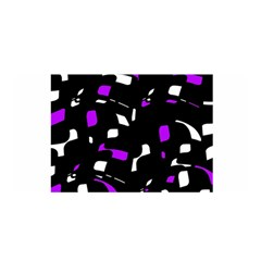 Purple, Black And White Pattern Satin Wrap by Valentinaart