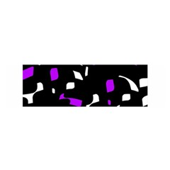 Purple, Black And White Pattern Satin Scarf (oblong) by Valentinaart