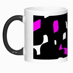 Magenta, Black And White Pattern Morph Mugs by Valentinaart