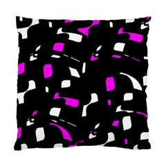 Magenta, Black And White Pattern Standard Cushion Case (one Side) by Valentinaart