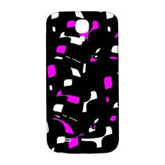 Magenta, Black And White Pattern Samsung Galaxy S4 I9500/i9505  Hardshell Back Case by Valentinaart