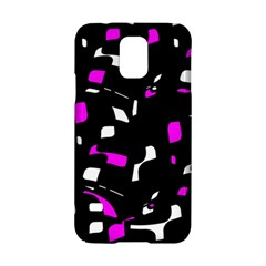 Magenta, Black And White Pattern Samsung Galaxy S5 Hardshell Case  by Valentinaart