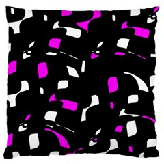 Magenta, Black And White Pattern Standard Flano Cushion Case (two Sides) by Valentinaart