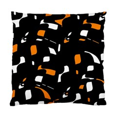 Orange, Black And White Pattern Standard Cushion Case (two Sides) by Valentinaart