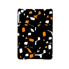 Orange, Black And White Pattern Ipad Mini 2 Hardshell Cases by Valentinaart