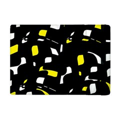 Yellow, Black And White Pattern Ipad Mini 2 Flip Cases by Valentinaart