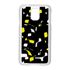 Yellow, Black And White Pattern Samsung Galaxy S5 Case (white) by Valentinaart