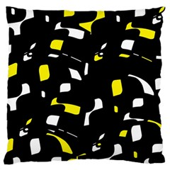 Yellow, Black And White Pattern Standard Flano Cushion Case (two Sides) by Valentinaart