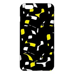Yellow, Black And White Pattern Iphone 6 Plus/6s Plus Tpu Case by Valentinaart