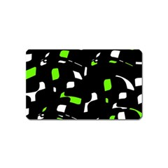Green, Black And White Pattern Magnet (name Card) by Valentinaart