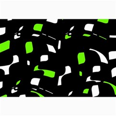 Green, Black And White Pattern Collage Prints by Valentinaart