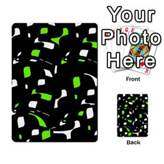Green, Black And White Pattern Multi Purpose Cards (rectangle)  by Valentinaart
