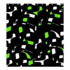 Green, Black And White Pattern Shower Curtain 66  X 72  (large)  by Valentinaart