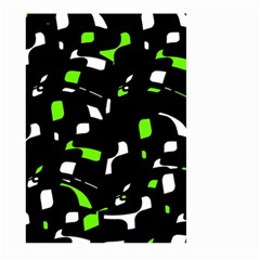 Green, Black And White Pattern Large Garden Flag (two Sides) by Valentinaart