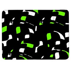 Green, Black And White Pattern Samsung Galaxy Tab 7  P1000 Flip Case by Valentinaart