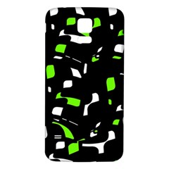 Green, Black And White Pattern Samsung Galaxy S5 Back Case (white) by Valentinaart