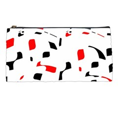 White, Red And Black Pattern Pencil Cases by Valentinaart