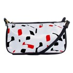 White, red and black pattern Shoulder Clutch Bags Front