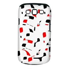 White, Red And Black Pattern Samsung Galaxy S Iii Classic Hardshell Case (pc+silicone) by Valentinaart